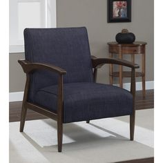 Gracie Retro Indigo Arm Chair - Overstock™ Shopping - Great Deals on Living Room Chairs