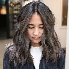 13 Best Black Hair Grey Highlights Images Hair Coloring Colourful