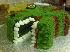 T-Rex Cake by blokewithsuperpowers, via Flickr