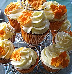 Orange Almond Poppy Seed Cupcakes