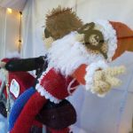 Here Comes Crochet Santa Claus … on Crochet Bob Dylan's Crochet Motorcycle!