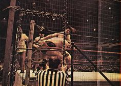 Bruno Sammartino vs. The Sheik in a Steel Cage