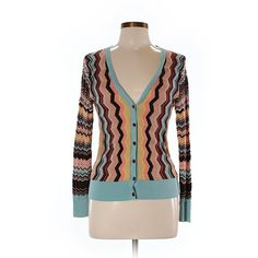 Pre-owned Missoni For Target Cardigan Size 8: Brown Women's Sweaters &... ($20) ❤ liked on Polyvore featuring tops, cardigans, brown, missoni top, brown cardigan, brown tops, missoni and cardigan top