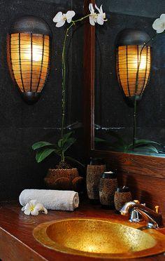 gorgeous lights #bathroom tiles, shower, vanity, mirror, faucets, sanitaryware, #interiordesign, mosaics,  modern, jacuzzi, bathtub, tempered glass, washbasins, shower panels #decorating