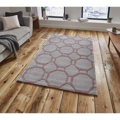 Think Hong Kong 4338 Rug In Grey And Rose Next Day Delivery From WorldStores Everything For The Home