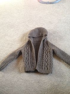 Boys cable knit hoodie