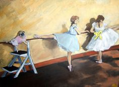 Pug Art Dog Print Belly Up To The Bar Ballet Dance by by dogwagart, $13.50