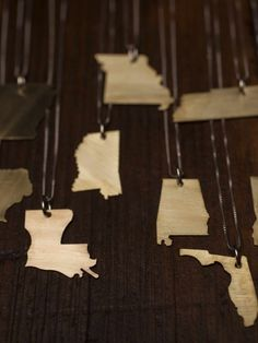 Robinson Lane State Shape Necklaces