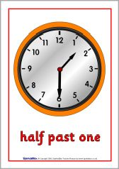 Ned. versie!!! Half past time posters (SB1429) - SparkleBox