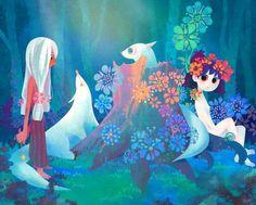 Boy and girl - Cute Kid Illustrations by South Korea based artist Kim Dan Bee