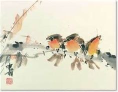 chinese brush painting deer - - Yahoo Image Search Results