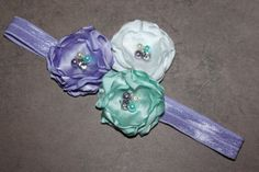 Purple Headband  Aqua Headband  Mint Headband  by harlowsblooms, $8.00
