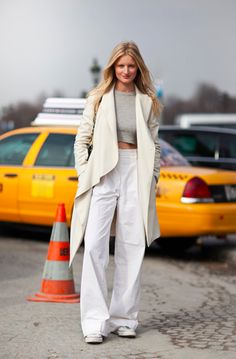 How beautiful and basic is all this white? via the Satorialist