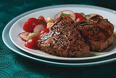 Let's keep things simple, with grilled lamb chops and a tomato & radish salad. Brilliant!
