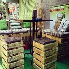 Muebles con Palets - Mesas de jardín con Palets