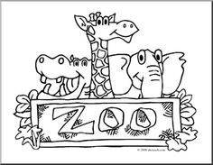 Atl Zoo Clip ArtZoo Entrance Coloring Page