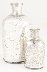 Vagabond Vintage Medium Mercury Glass Bottles (Set of 2)