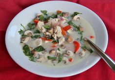 Thai Coconut & Lemongrass Chicken Soup with Fresh Herbs