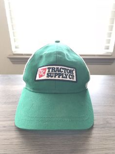 4f6556fb978 Green Tractor Supply Co TSC Logo Embroidered Trucker hat cap Adjustable   fashion  clothing