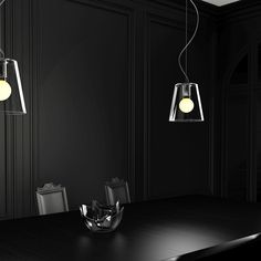 Pendant with a glass shade. Available in two different colors. Ceiling cap is in chrome. Light Table, Wall Lights, Lamp, Light, Glass Shades, Glass, Lights, Dining Table Lighting, Ceiling Lights