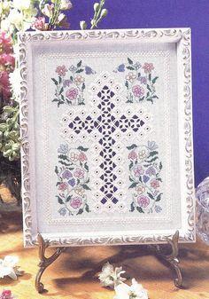Easter Cross Flowers Hardanger Cross Stitch Pattern