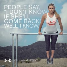 Inspiration: Lindsey Vonn lets nothing hold her back. Neither should you. #IWILLWHATIWANT