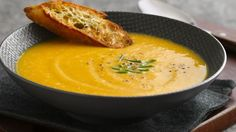 Our Butternut Squash Soup is sweetened with chopped apple, and a hint of cinnamon, giving this ultimate comfort food an amazing twist. If you love butternut squash soup, you need to try this variation: just a bit different from the original in all of the right ways.