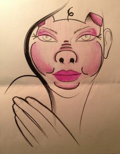 Animal Farm makeup facechart - Pig!! MUA - Izzi Oliver!!