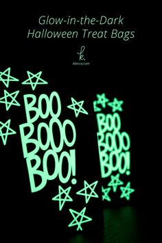 Learn how to make fun glow in the dark Halloween treat bags in this quick and easy Halloween paper crafts tutorial. Halloween Paper Crafts, Halloween Favors, Halloween Treat Bags, Xmas Crafts, Easy Halloween, The Darkest, Glow, Greeting Cards, Gift Wrapping