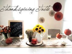 Thanksgiving Table   Homey Oh My!