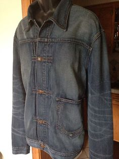 True Religion Brand Jeans Mens Kyle Phoenix Front Denim Jacket Coat 3Xl Nwt $251