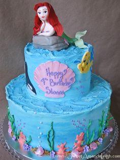 #littlemermaidcake #undertheseacake #underthesea #littlemermaid #arielcake #flounder