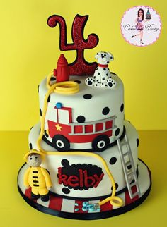 Firefighter Fire Truck Party Cake