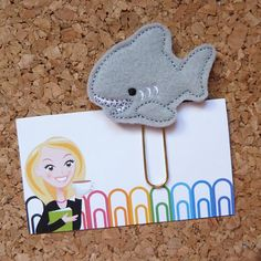 Felt Shark Paper Clip  Bookmark  Planner Clip  by TheBookNookPatch