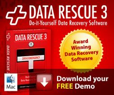 Data Rescue 3 DIY Data Recovery Software . This is one of the best software applications for Mac data recovery and allows a free trial. Especially if you have lost important data and need to get it back...