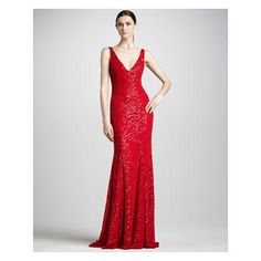 Monique Lhuillier Sleeveless Beaded Gown