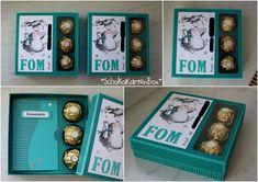 Hallo ihr Lieben!   Um eine Karte und Süßigkeiten zu verschenken eignet sich ideal die SchokoKartenBox von Kabybescrapsdesign.   In die Box ...