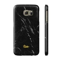 """Anthracite"" / feature with Superb Black color marble stone printed Samsung cover. #black #marble #case #stone"