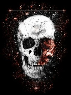 Space Skull by Floris Achterberg, via Behance