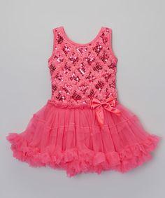 Another great find on #zulily! Fuchsia & Rose Sparkle Tutu Dress - Infant, Toddler & Girls #zulilyfinds