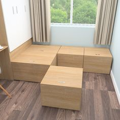 Custom Rubik's Cube Box Space Saving Small Apartment Tatami Customized Combination Storage Bed Platform Tata Mi Bedroom Bed Box - BuyToMe.com - Buy China shop at Wholesale Price By Online English Taobao Agent Small Bedroom Furniture, Home Bedroom, Bedroom Decor, Platform Bed With Storage, Bed Platform, Tiny Bedroom Design, Modern Japanese Interior, Japanese Apartment, Small Room Decor