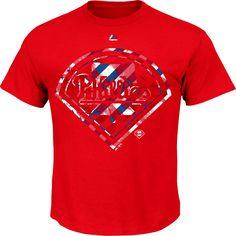 Philadelphia Phillies Majestic Stars & Stripes Spirited Stripes T-Shirt - Red - $17.59