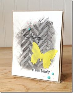 stencil and gelatos techniques card by Kimberly Crawford using #Gelatos from #designmemorycraft