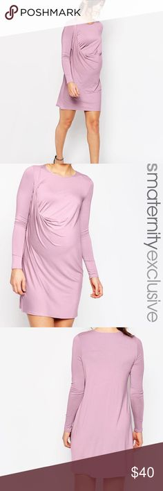 ASOS Maternity Pink Drape Dress Beautiful ASOS Maternity pink dress with draped ruched detail. Perfect for transitioning into fall!                                                                     Visit our shop to see other trendy and modern maternity & baby items!   ✖️ trades   ✖️ try-on's   ✖️ low-ball offers please!   ✔️ bundle discount offered! ASOS Maternity Dresses Midi