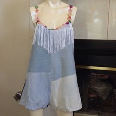 NWT Ragged Priest LF Denim Romper NWT RP4LF Romper. Details on strap, fringe from front and back, super cute and unique fun piece LF Dresses
