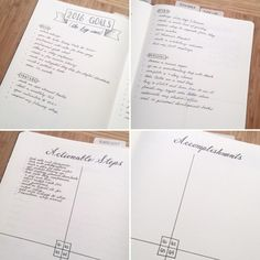 Organize you goals in your bullet journal!