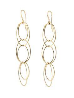 Simple loopy gold earrings.