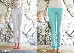 diy mint jeans