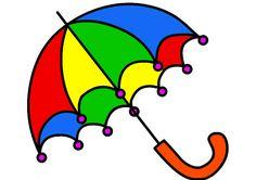 Aneka Gambar Mewarnai - Gambar Mewarnai Payung Untuk Anak PAUD dan TK.