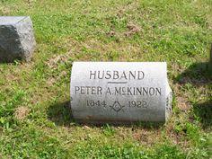 Peter A McKinnon (Poppa Mac's Grandfather) headstone in Forest Lawn Cemetery
